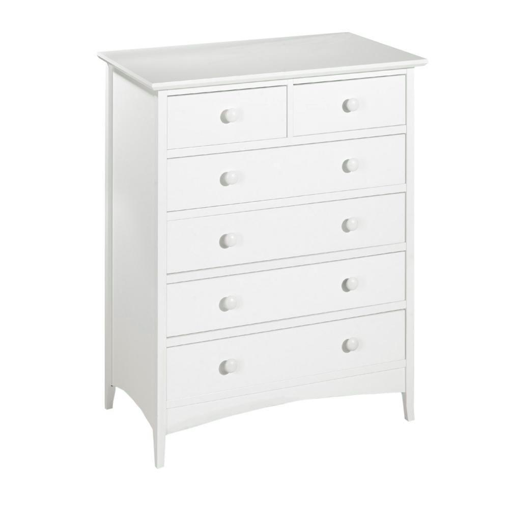 Home Decorators Collection Hawthorne 37 in. W White 6-Drawer Chest