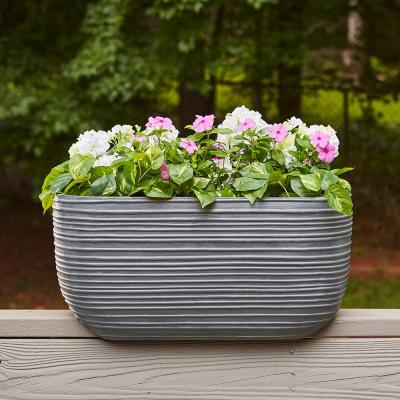 Cabana 24 in. W x 9.5 in. H Resin Deck Rail Planter
