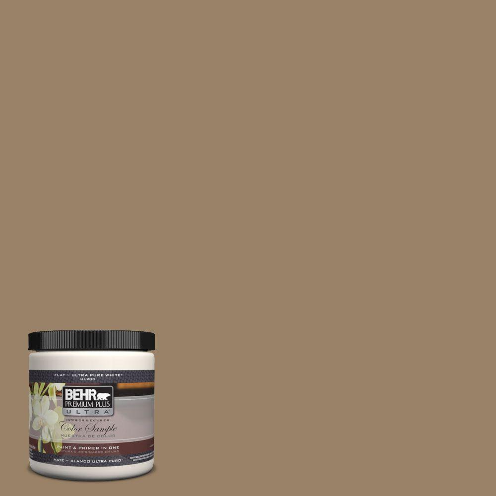 BEHR Premium Plus Ultra 8 oz. #UL180-25 Collectible Matte Interior/Exterior Paint and Primer in One Sample