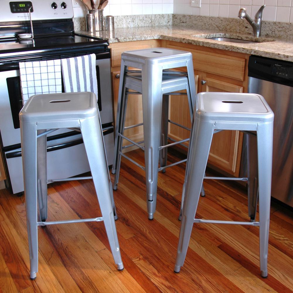 Cool Amerihome Loft Style 30 In Stackable Metal Bar Stool In Inzonedesignstudio Interior Chair Design Inzonedesignstudiocom