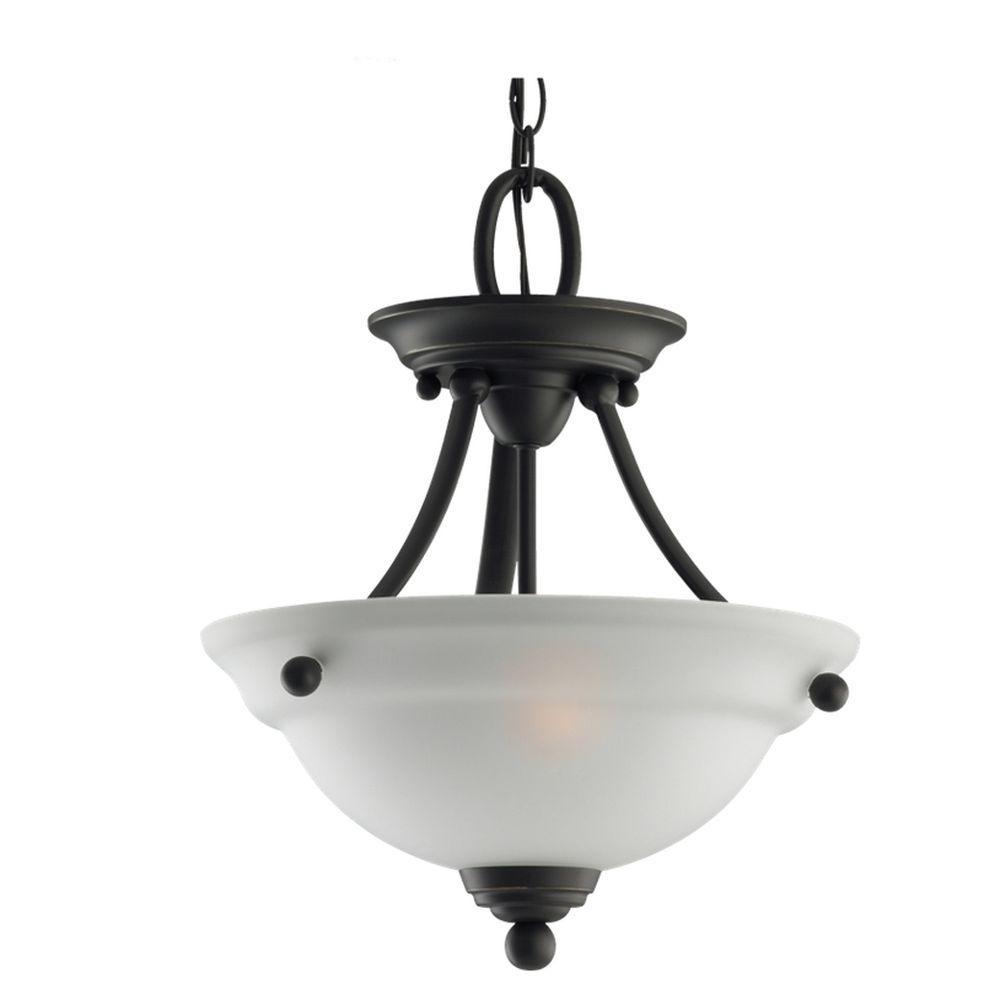 Wheaton 2-Light Heirloom Bronze Semi-Flush Mount Light