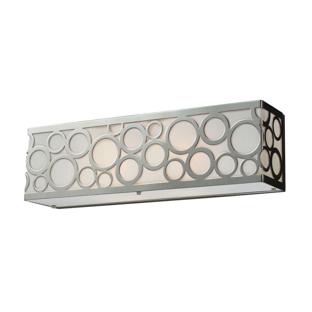 Titan Lighting Retrovia 2-Light Polished Nickel Wall Vanity Light