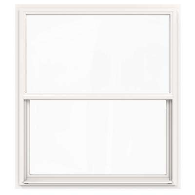48 in. x 60 in. V-4500 Series White Single-Hung Vinyl Window with Fiberglass Mesh Screen