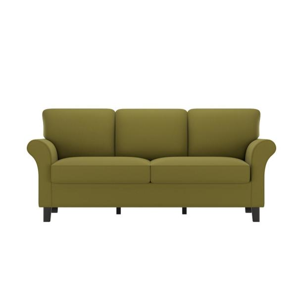 Handy Living Rockford SoFast Sofa in Spring Green Velvet RKF