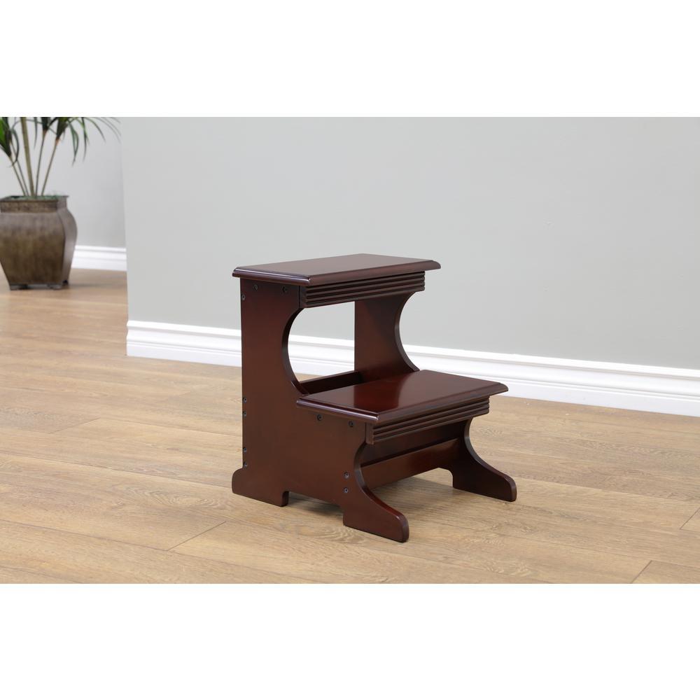 Strange 13 3 In X 16 3 Ft Dark Walnut Step Stool Machost Co Dining Chair Design Ideas Machostcouk