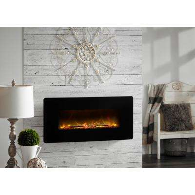 Winslow 35 in. Wall-Mount/Tabletop Linear Electric Fireplace in Black