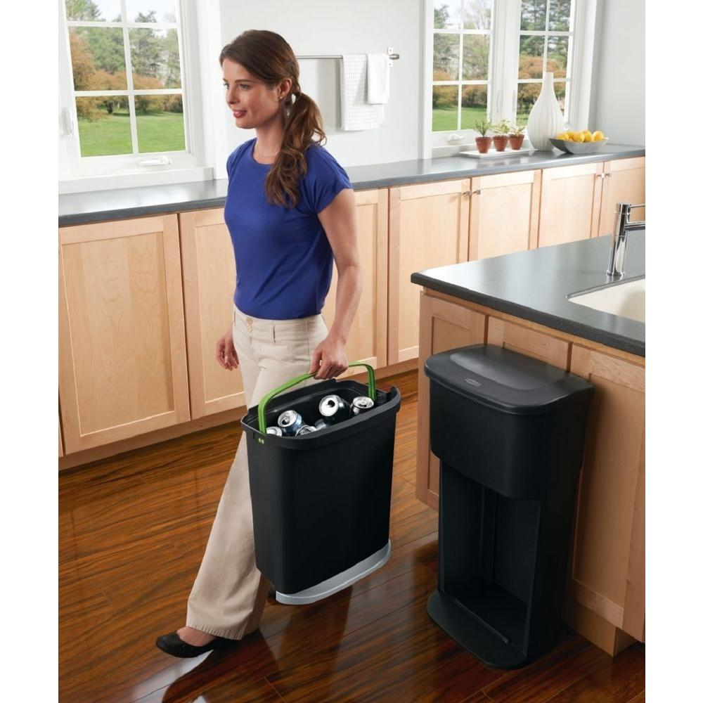 Rubbermaid 13.2 Gal. 2-in-1 Indoor Recycling Bin