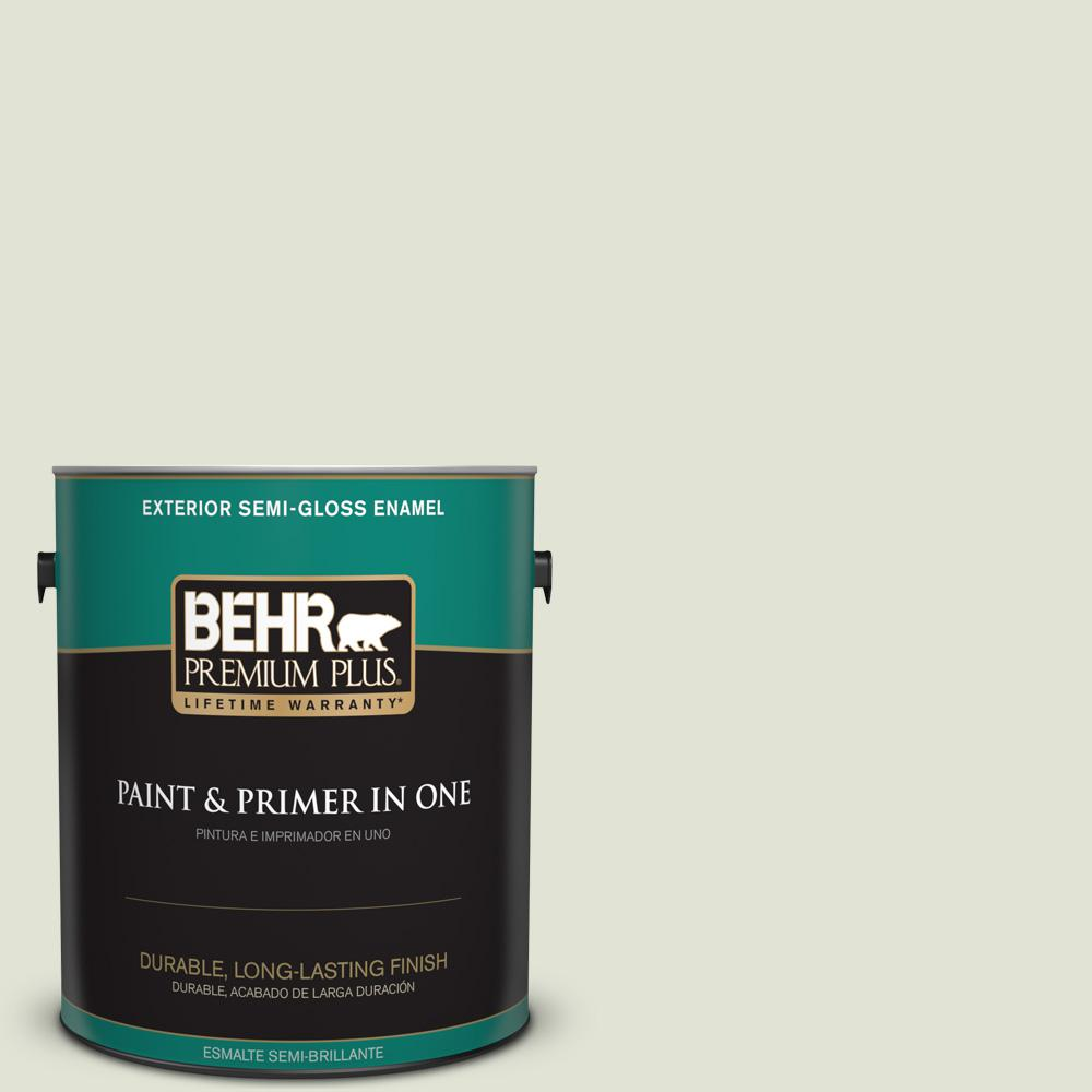 1 gal. #MQ3-46 Folly Semi-Gloss Enamel Exterior Paint and Primer in