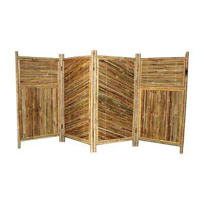 96 in. W x 48 in. H per panel 4-Panel Bamboo Screen