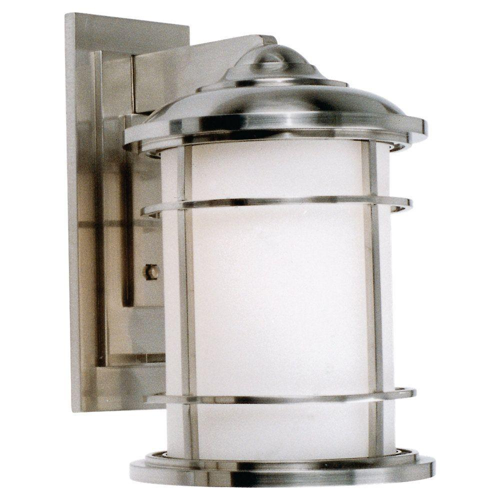 Feiss Lighthouse 1 Light Brushed Steel Outdoor Wall Lantern