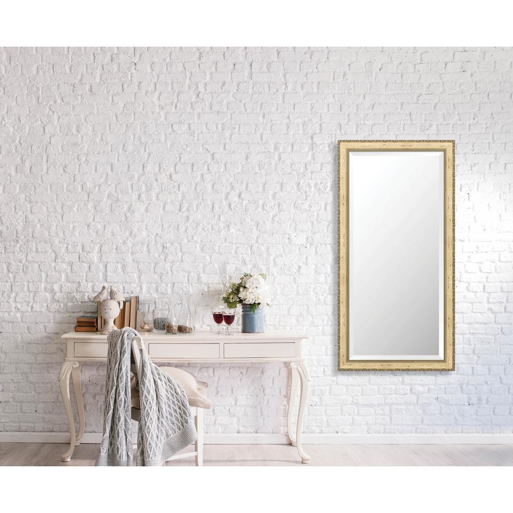 Winthrop 24.375 in. x 48.375 in. Vintage Medium Framed Bevel Mirror