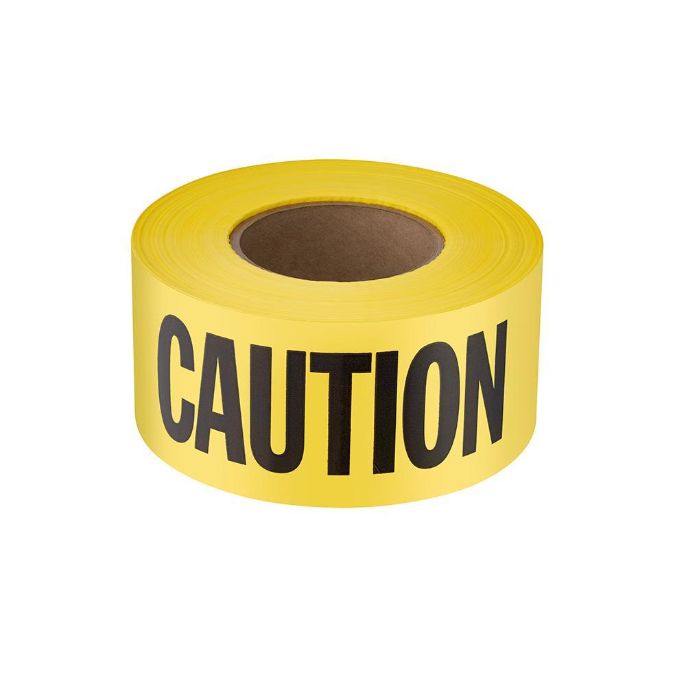 3 in. x 1000 ft. Caution/Cuidado Standard Barricade Tape