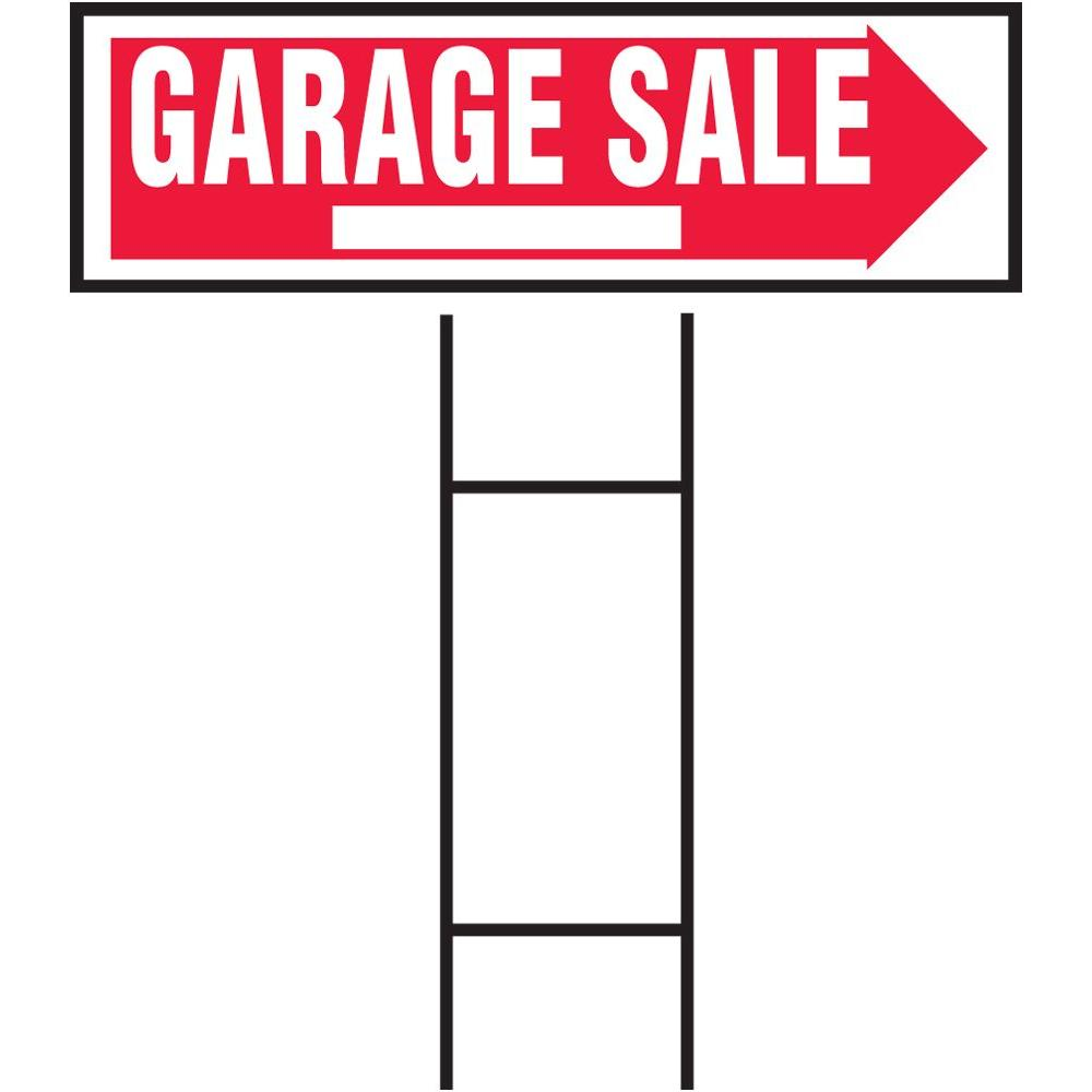 Hy Ko 10 In X 24 In Plastic Garage Sale Sign Rs 804 The Home Depot