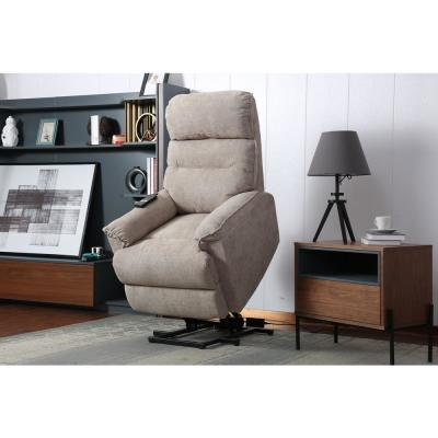 Beige Power Lift Recliner Chair with Remote