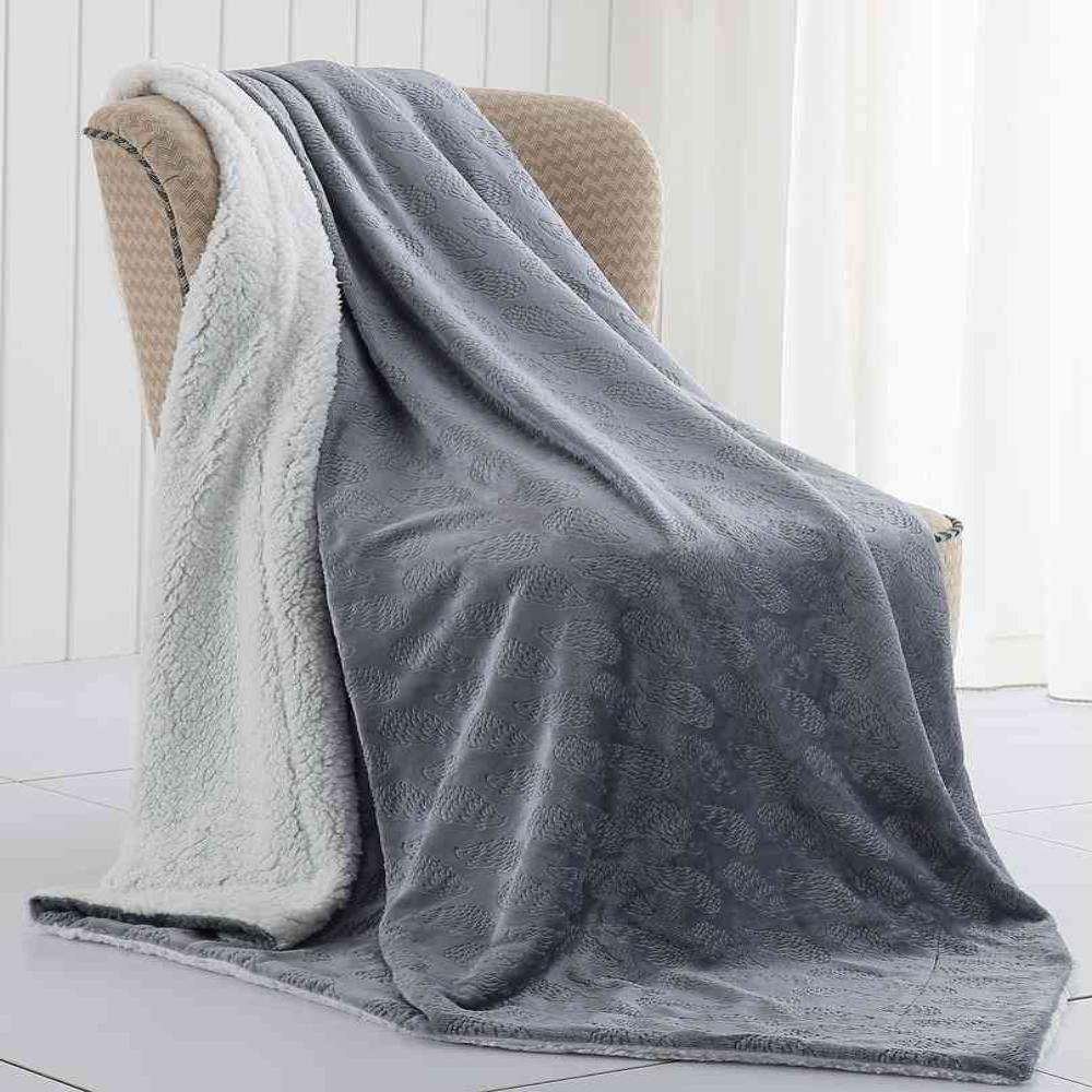 MHF Home Harrold the Hedgehog Velvet Plush and Sherpa Throw Blanket