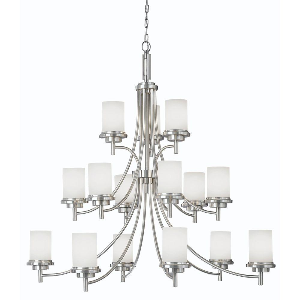 Sea gull lighting winnetka 15 light brushed nickel chandelier 31663 sea gull lighting winnetka 15 light brushed nickel chandelier aloadofball