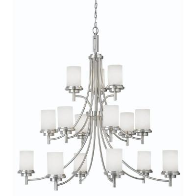 Winnetka 15-Light Brushed Nickel Chandelier