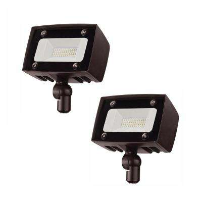 PROBRITE Bright Architectural 20-Watt Bronze LED Flood Light 2000 Lumens