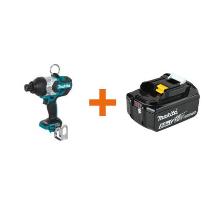 18-Volt LXT Lithium-Ion Brushless Cordless High Torque 7/16 in. Hex Impact Wrench with bonus 18V LXT Battery Pack 5.0Ah