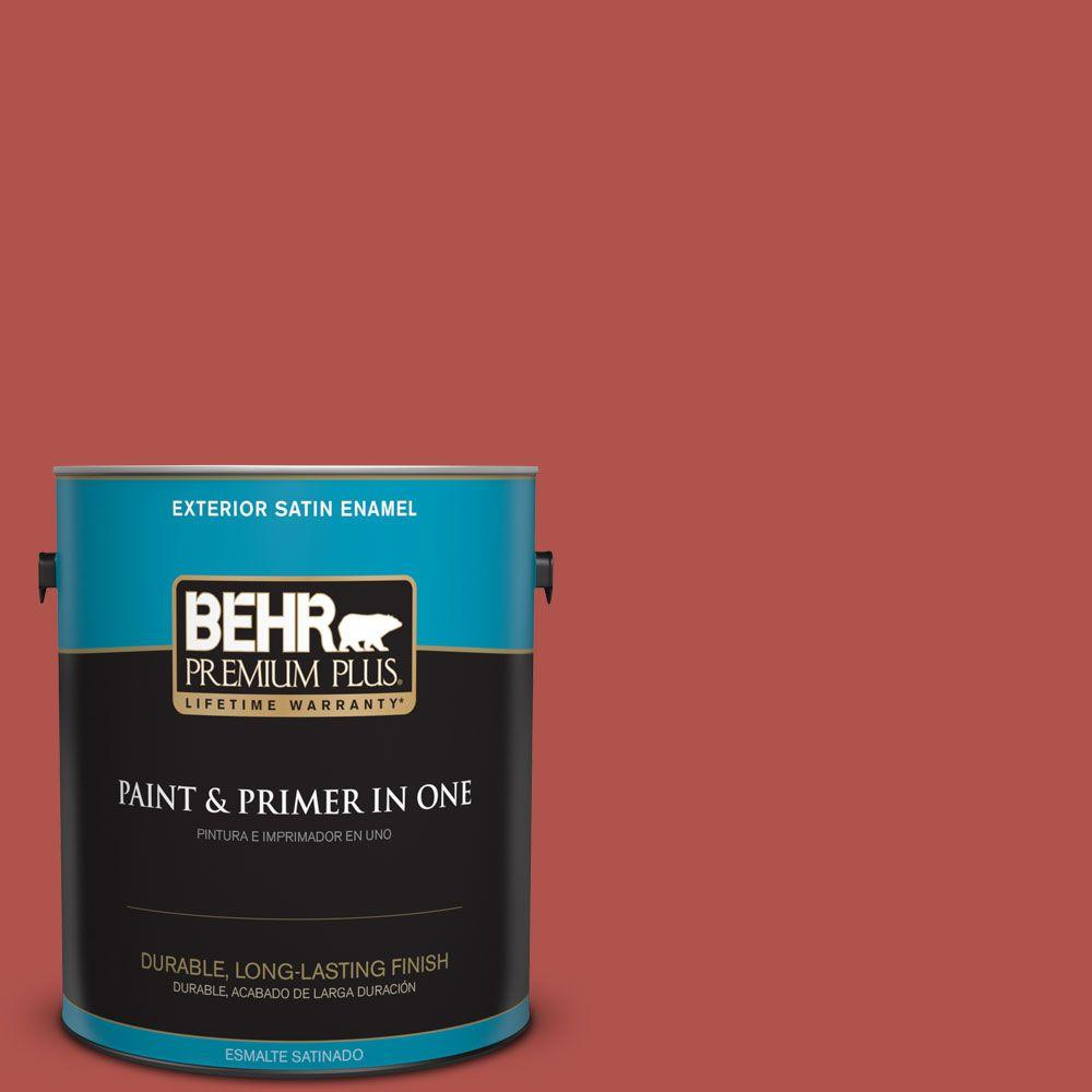 1-gal. #BIC-48 Fortune Red Satin Enamel Exterior Paint