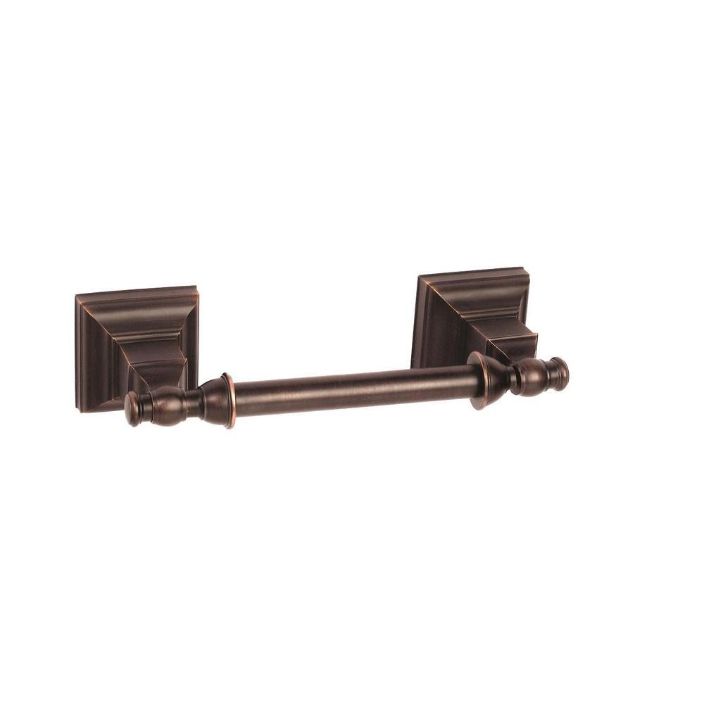 Markham Pivoting Double Post Tissue Roll Holder in Oil-Rubbed Bronze