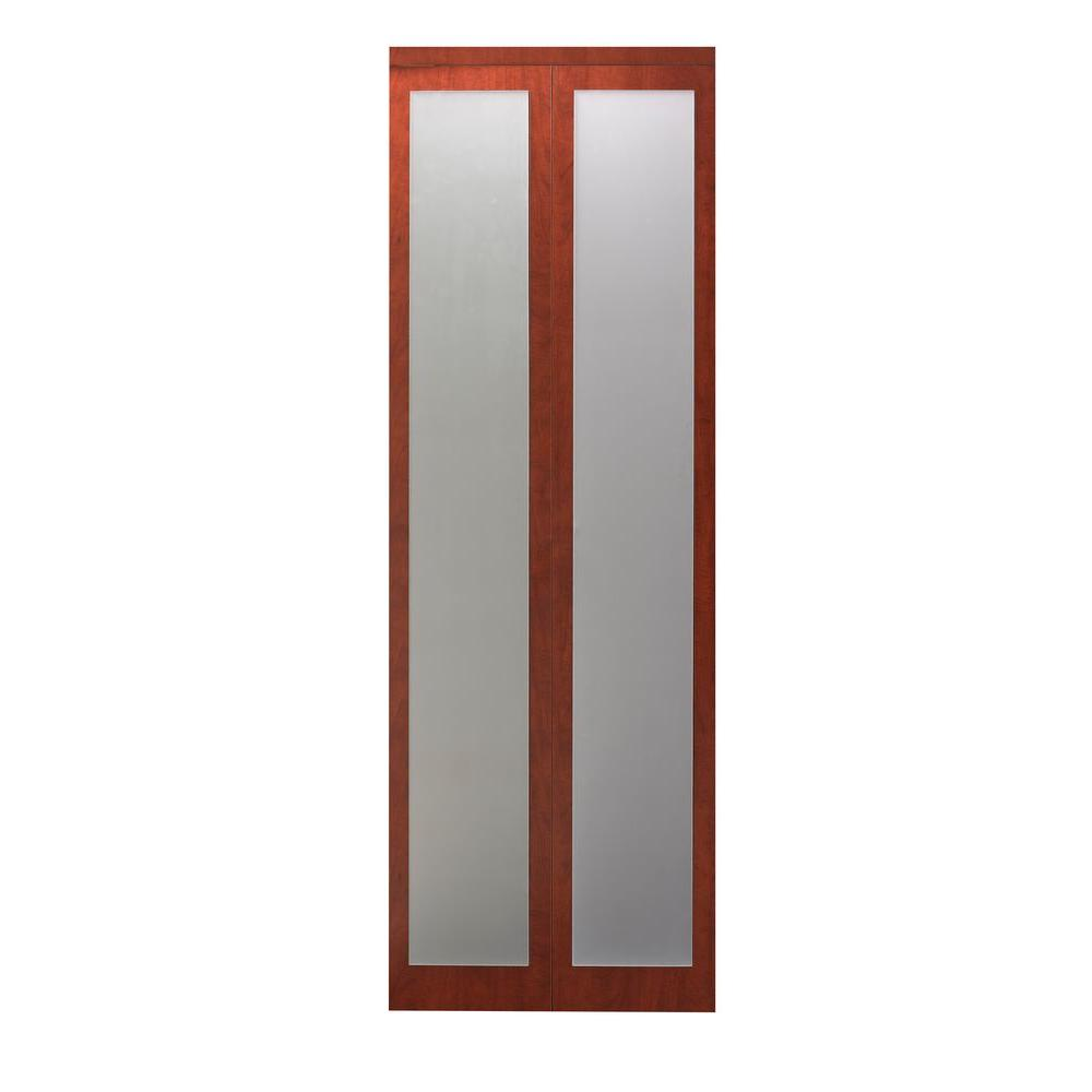 24 in. x 80 in. Mir-Mel Mirror Solid Core Cherry MDF