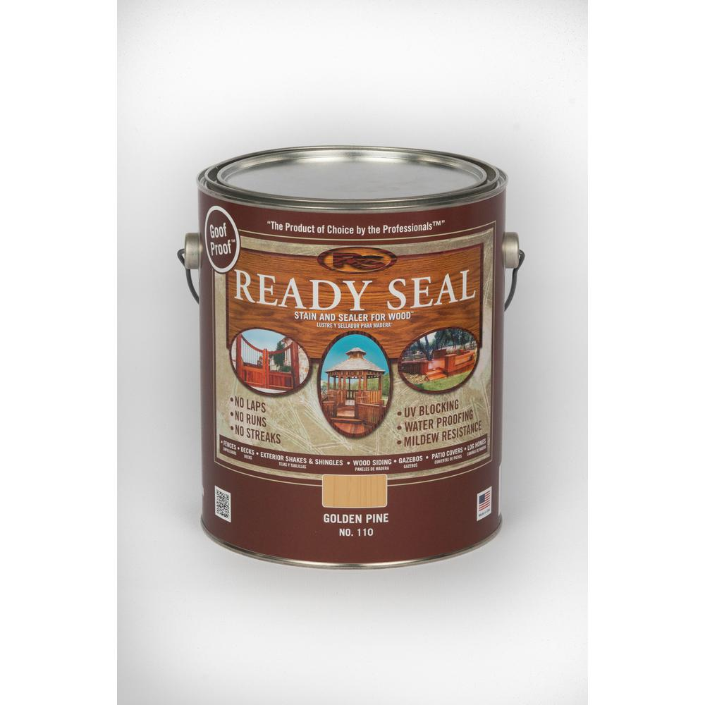 READY SEAL 1 gal. Golden Pine Exterior Wood Stain and Sealer
