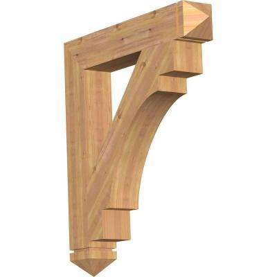5.5 in. x 40 in. x 36 in. Western Red Cedar Merced Arts and Crafts Smooth Bracket