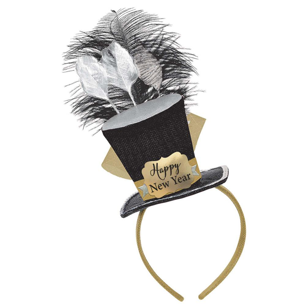 Amscan New Year S 10 In Black Silver And Gold Top Hat