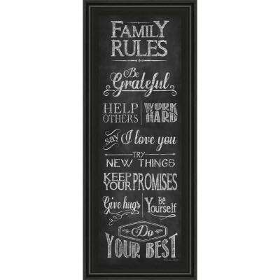 """18 in. x 42 in. """"Family Rules"""" by Susan Ball Framed Printed Wall Art"""