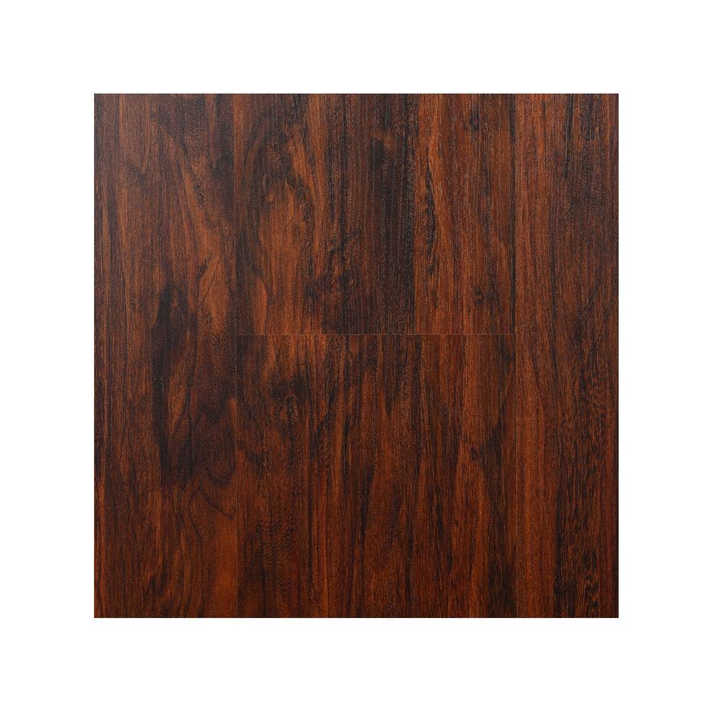 Take Home Sample - Newport Mahogany 8 mm Laminate Flooring 7.75 in. W x 8 in. L