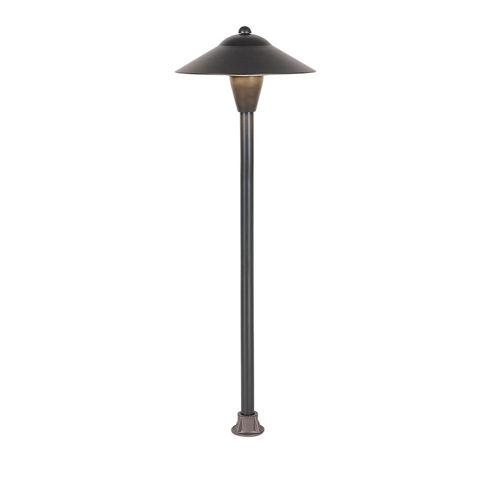 4-Watt Antique Bronze Outdoor Integrated LED, Landscape Path Light