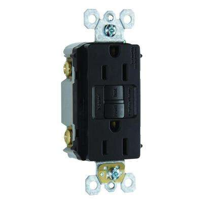 15 Amp 125-Volt Self-Test GFCI Duplex Outlet - Black