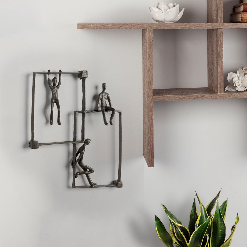Playful Kids on Frames Cast Iron Wall Art