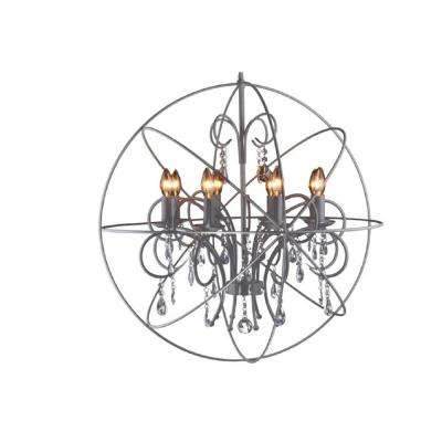 8-Light Sand Rock Grey Chandelier