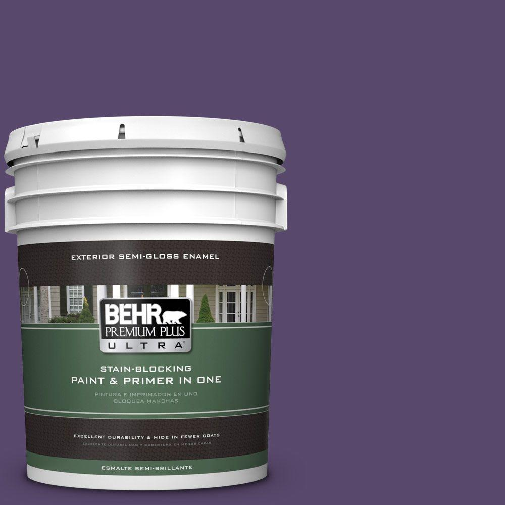 5-gal. #P570-7 Proper Purple Semi-Gloss Enamel Exterior Paint