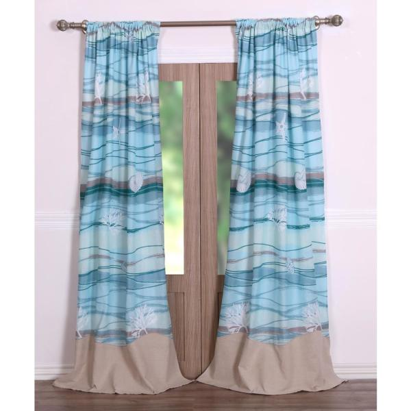 Maui Multi Sheer Polyester Window Panel Pair - 42 in. W x 84 in. L