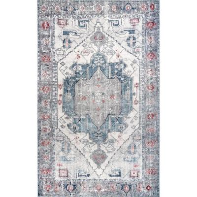 Modern Oriental Blue Area Rugs Rugs The Home Depot