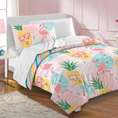 2-Piece Pink Pineapple Toddler Comforter Set
