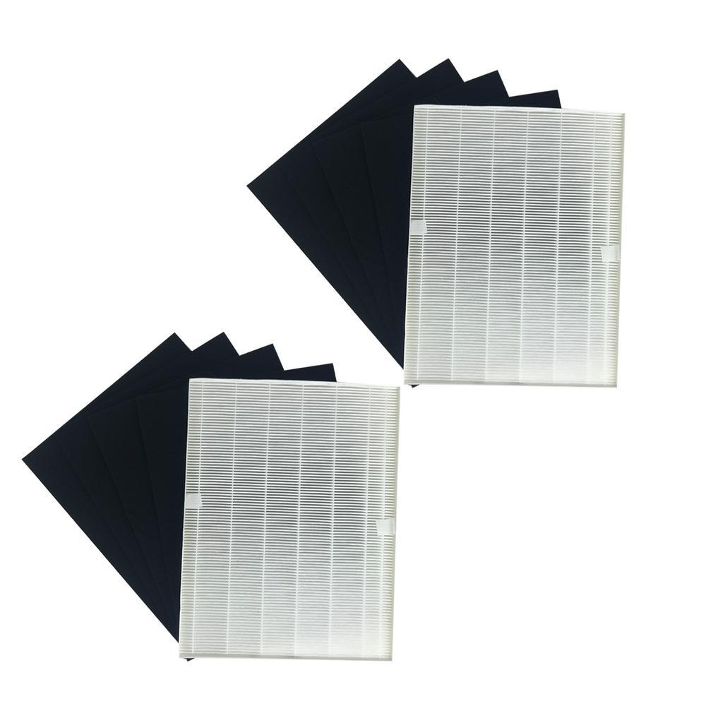17.9 x 14.2 x 2.1 Repl Winix 21HC4 115115 Air Purifier Filter & 8 Carbon Filters Fit 5500 WAC5300 WAC5500 WAC6300 (2-Pk)