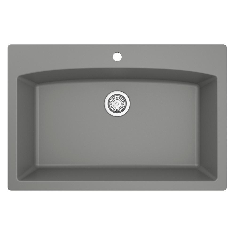 gray 33 drop in kitchen sinks kitchen sinks the home depot rh homedepot com