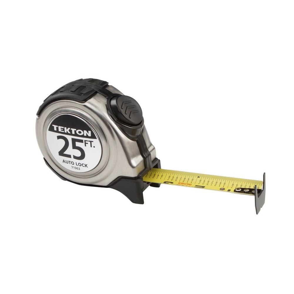 TEKTON 25 ft. x 1 inch Auto Lock Tape Measure by TEKTON
