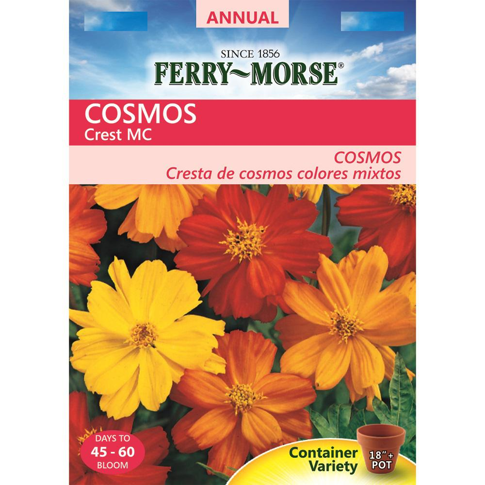 Ferry morse cosmos crest mix colors seed 9504 the home depot ferry morse cosmos crest mix colors seed izmirmasajfo Gallery