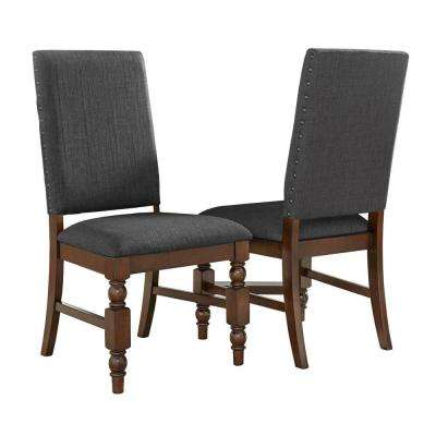 Maxine Charcoal Linen Dining Chair (Set of 2)