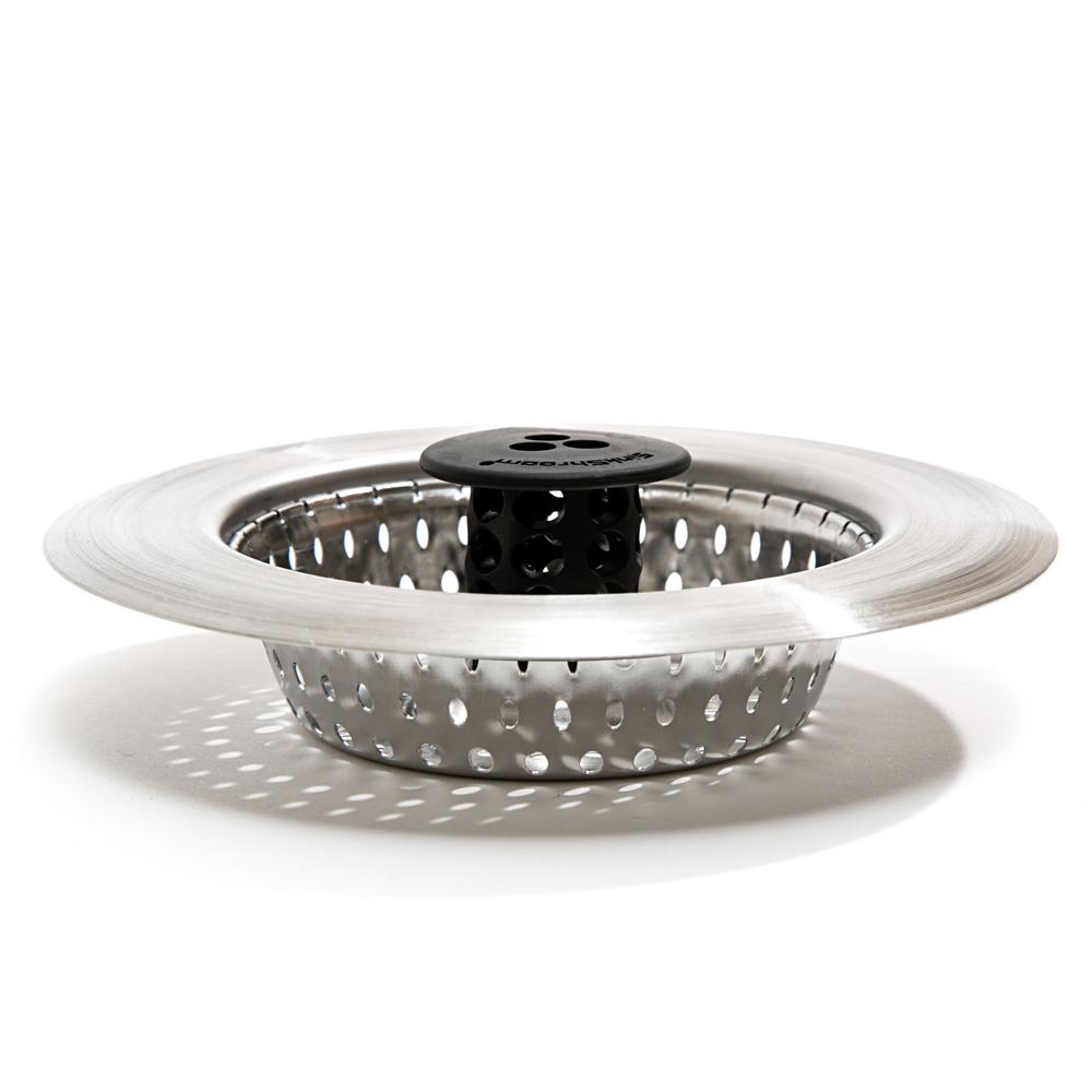 SinkShroom SinkShroom 3 in. - 4.5 in. Kitchen Sink Strainer, Silver