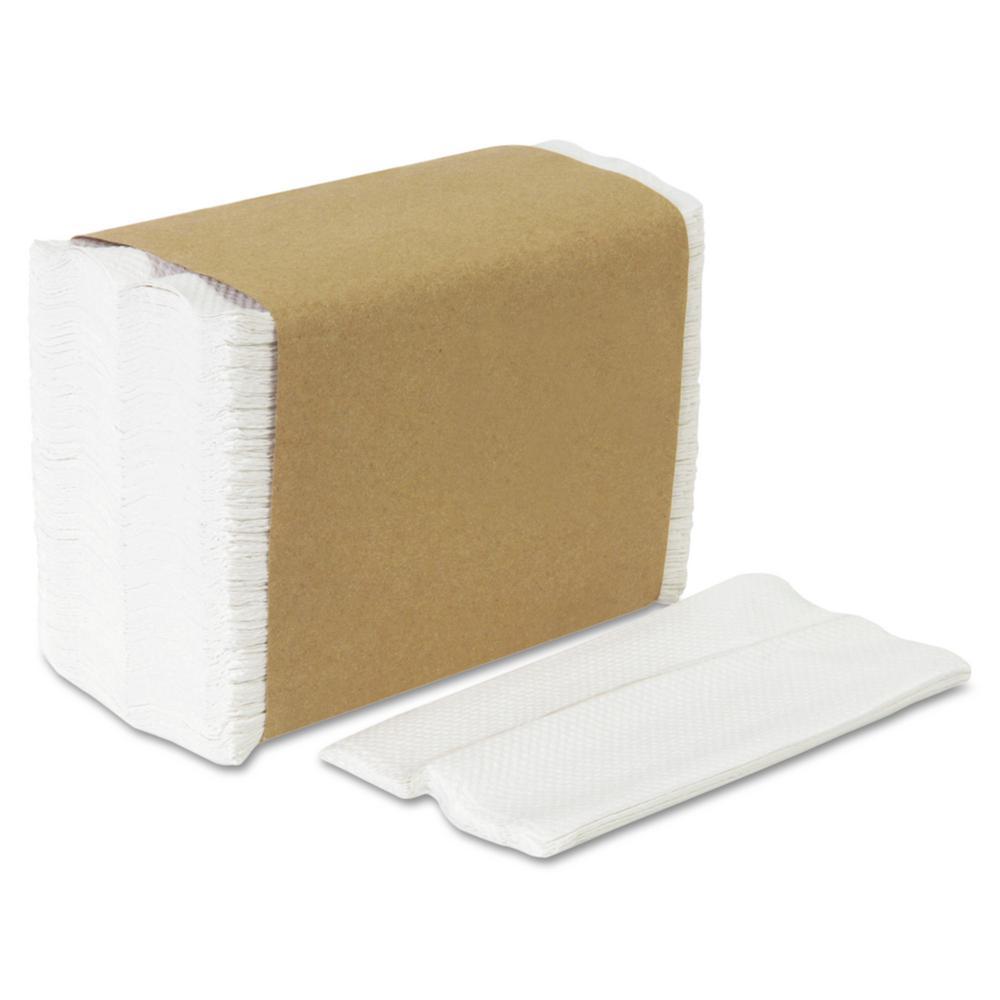 HyNap White Tall Fold Dispenser Napkins (250-Pack)