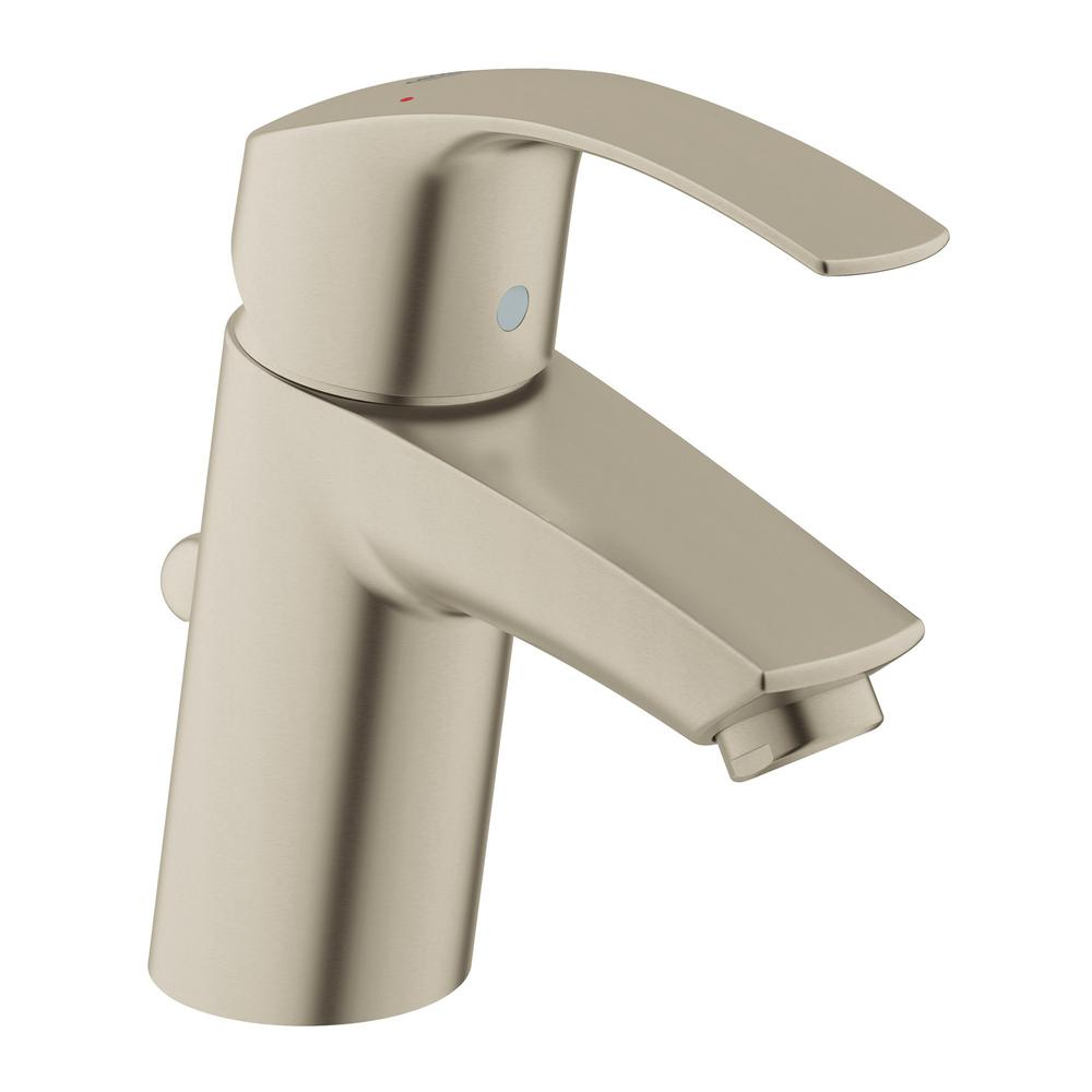 Eurosmart Single Hole Single-Handle Low-Arc Bathroom Faucet in Brushed Nickel