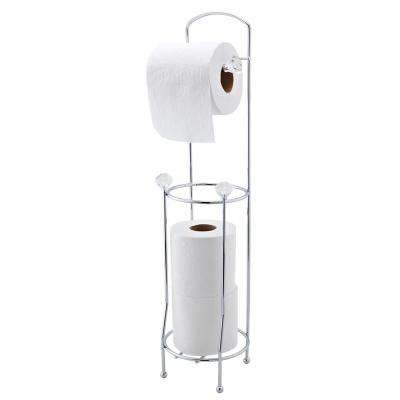 Crystal Toilet Paper Holder and Dispenser in Black