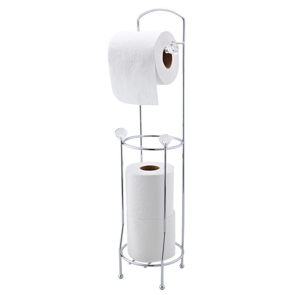 bath bliss crystal design toilet paper dispenser and holder 4692 the home depot. Black Bedroom Furniture Sets. Home Design Ideas