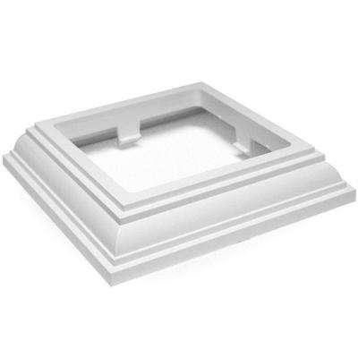 4 in. x 4 in. White New England Base Trim